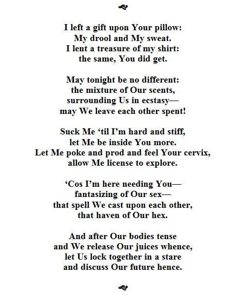 Post an erotic poem