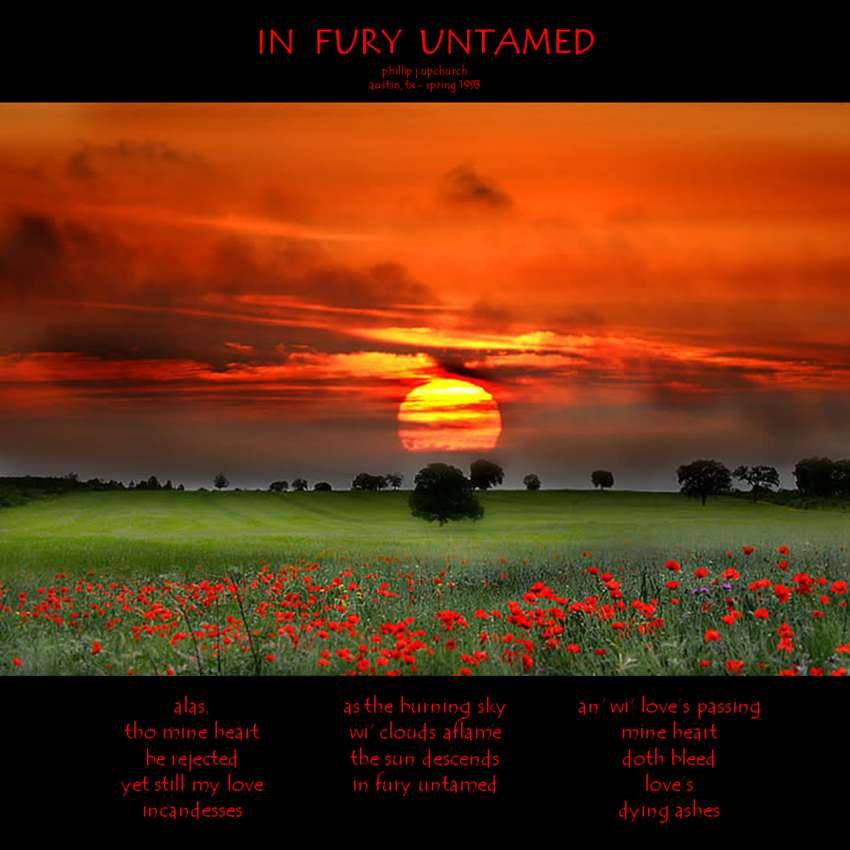 Visual Poem In Fury Untamed