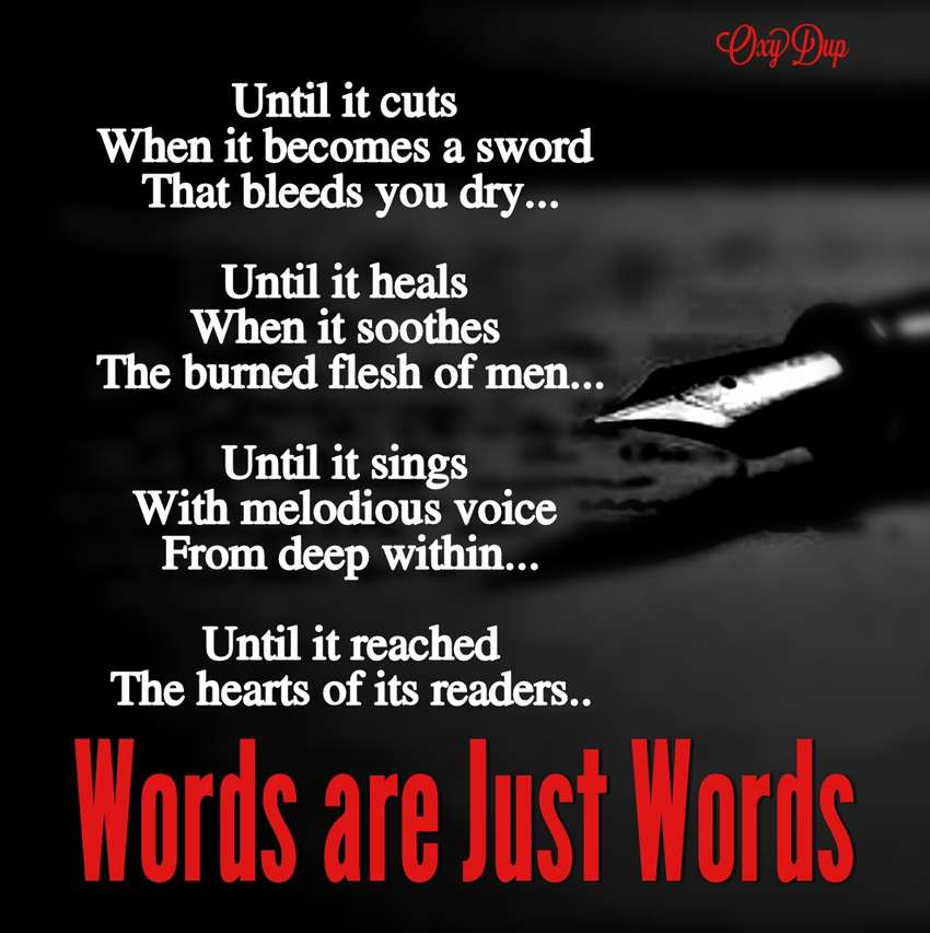 Words Are Just Words (Visual Poetry)