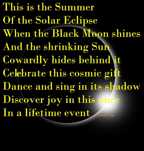 Visual Poem THE SUMMER OF THE SOLAR ECLIPSE