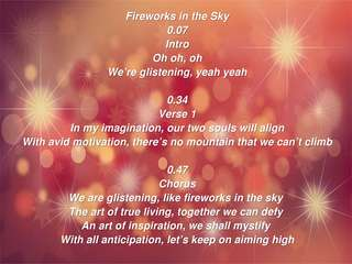 Image for the poem Fireworks in the Sky