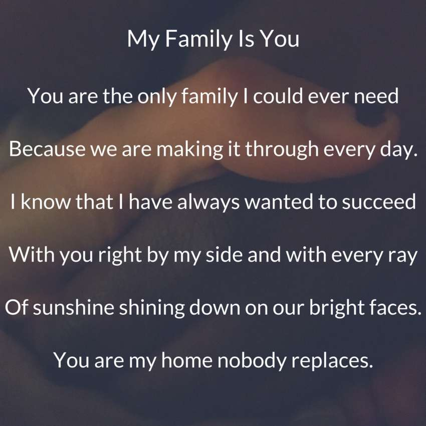 Observational Poems My Family Is You Visual Poem Du Poetry