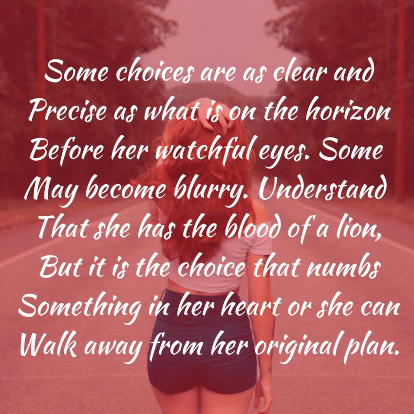 Her Choice - Visual Poetry