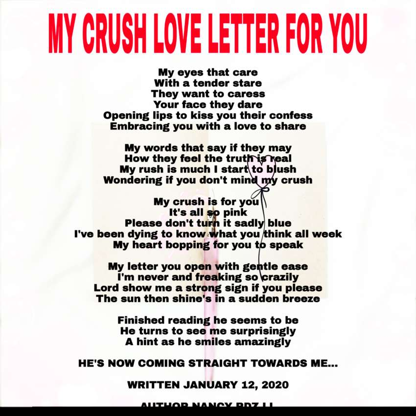 Love Poems : MY CRUSH LOVE LETTER FOR YOU : DU Poetry