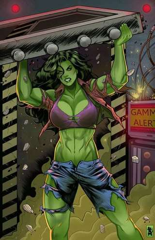 Image for the poem A Day in the Life of the Incredible SHE-HULK!