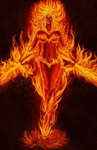 Image for the poem The Goddess of Fire!
