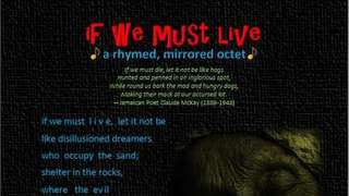 if we must live - Visual Version